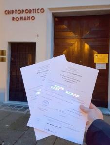 Buscas de certidões de batismo pela NordItalia - famílias Parise e Sandri
