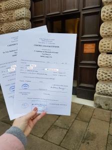 Buscas de certidões de batismo pela NordItalia - famílias Conte e Zanin