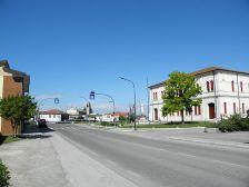 Via Oriano Scavazza e o prédio da prefeitura