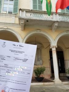 Busca de certidão de nascimento pela NordItalia - família Borelli