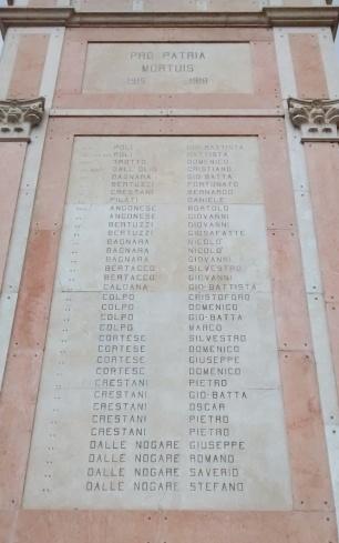 Homenagem aos mortos de Conco na 1ª Guerra Mundial