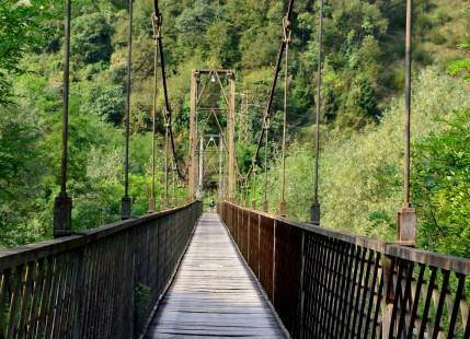 Ponte pedonal sobre o rio Brenta