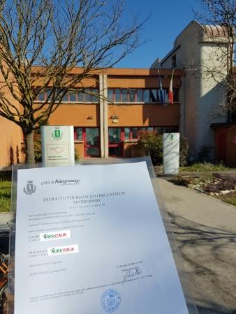 Busca de certidão de casamento pela NordItalia - famílias Coltri e Piovanello
