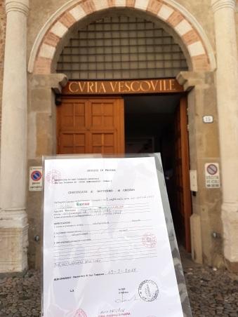 Busca de certidão de batismo pela NordItalia - família Coltri