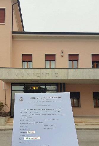 Busca de certidão de nascimento pela NordItalia - família Burin