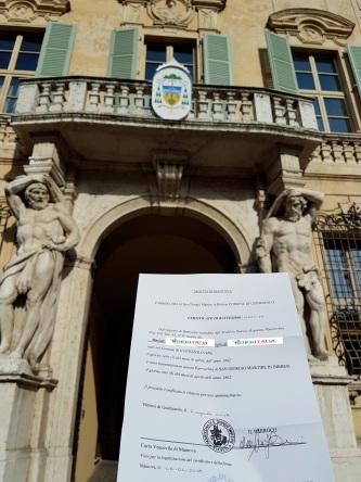 Busca de certidão de batismo pela NordItalia - família Masioli