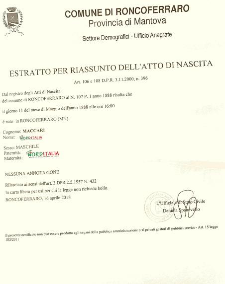 Roncoferraro - Maccari