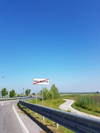 Saindo de Villadose em direção a Modena