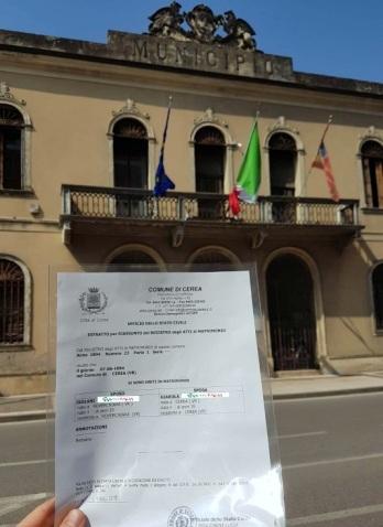 Busca de certidão de casamento pela NordItalia - família Isolani