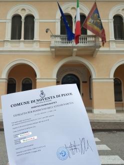 Busca de certidão de nascimento pela NordItalia - família Cuzzolin