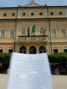 Busca de certidão de nascimento pela NordItalia - família Ballardin