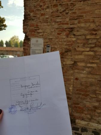 Apostilamento de certidão em Mantova