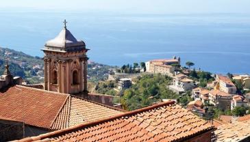 Vista do mar Tirreno a partir de Fuscaldo
