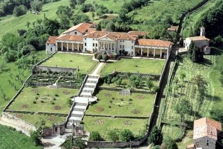 Panorâmica da Villa Piovene Porto Godi e Oratório de São Girolamo - canto superior à direita (foto: reprodução)