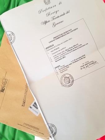 Apostilamento de certidão em Rovigo
