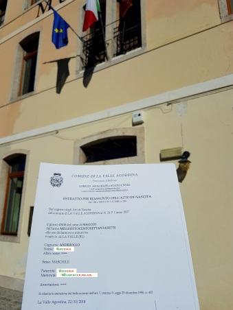 Busca de certidão de nascimento pela NordItalia - família Andriollo