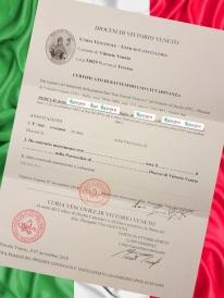 Busca de certidão de batismo pela NordItalia - família Peruch